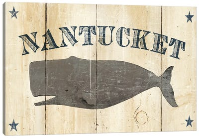 Nantucket Whale  Canvas Art Print