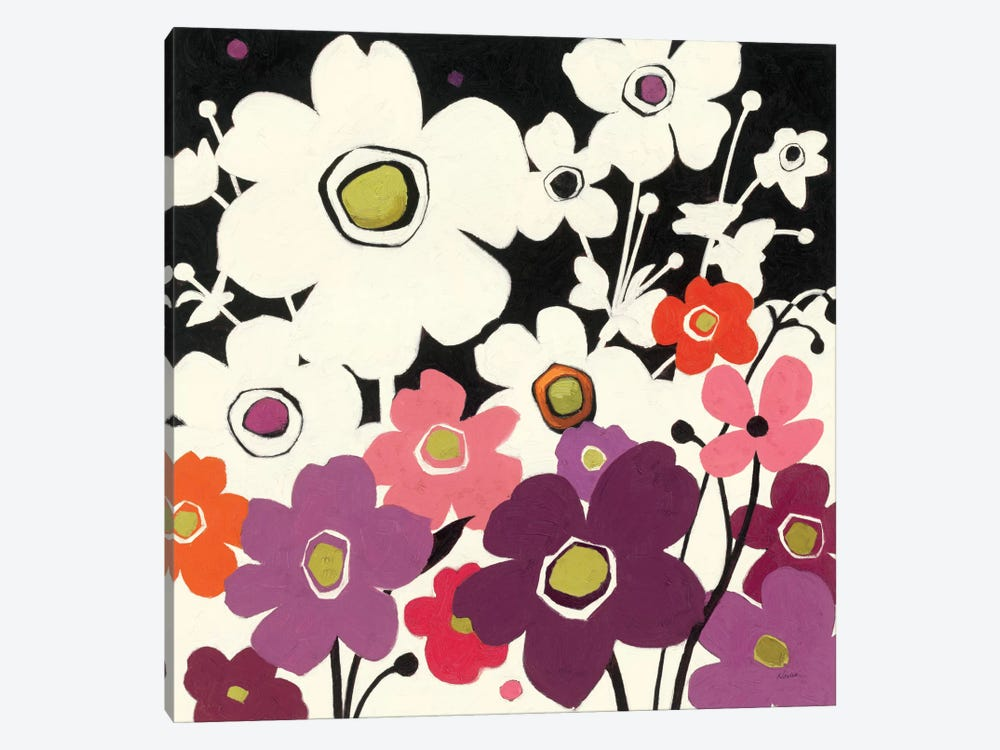 Flower Power II  by Shirley Novak 1-piece Canvas Artwork