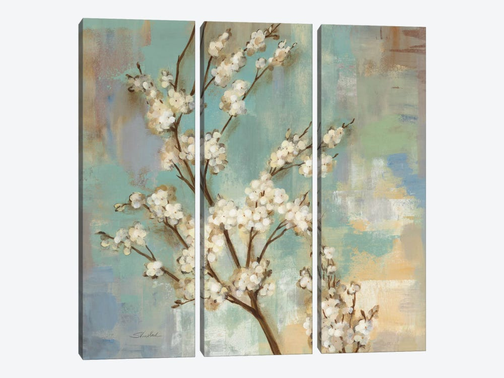 Kyoto Blossoms II by Silvia Vassileva 3-piece Canvas Wall Art
