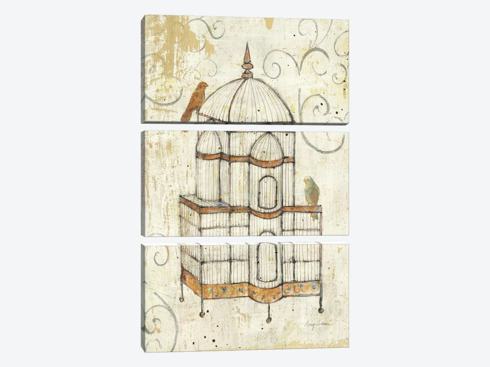 Bird Cage I  by Avery Tillmon 3-piece Canvas Artwork