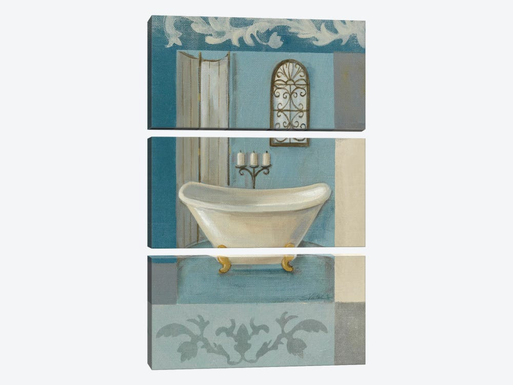 Antique Bath I by Silvia Vassileva 3-piece Canvas Print