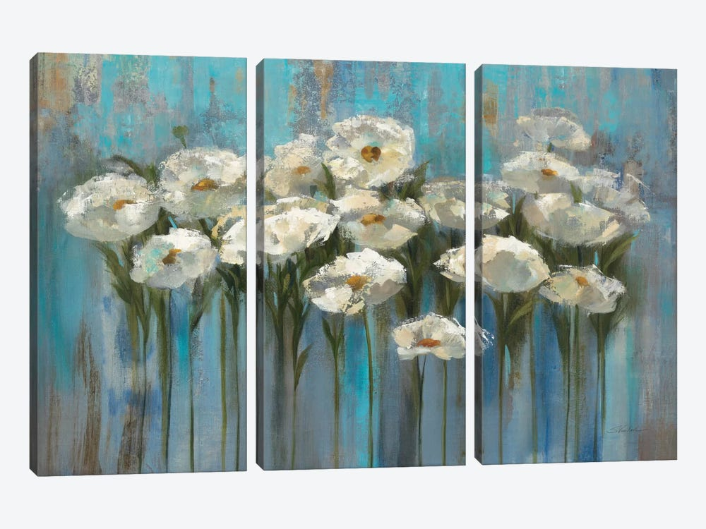 Anemones By The Lake I by Silvia Vassileva 3-piece Canvas Art Print