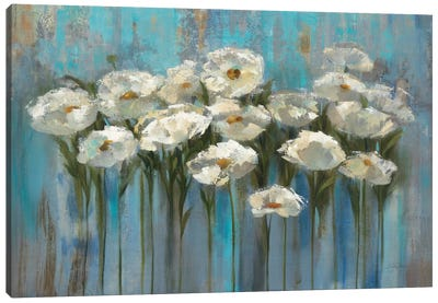 Anemones By The Lake I Canvas Art Print