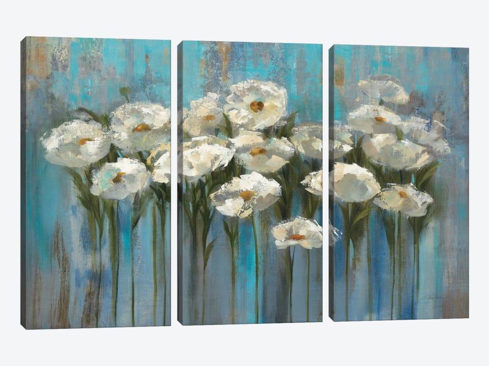 Anemones By The Lake I by Silvia Vassileva 3-piece Canvas Art Print