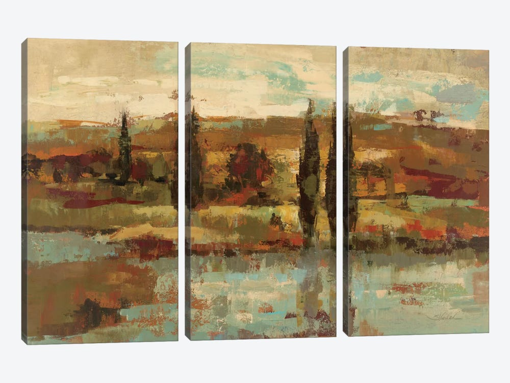 Hot Day By The RIVer by Silvia Vassileva 3-piece Canvas Art