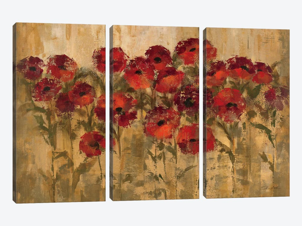 Sunshine Florals by Silvia Vassileva 3-piece Canvas Art Print