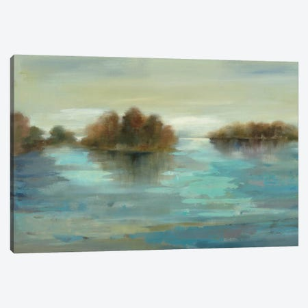Serenity on the River Canvas Print #WAC1253} by Silvia Vassileva Canvas Wall Art