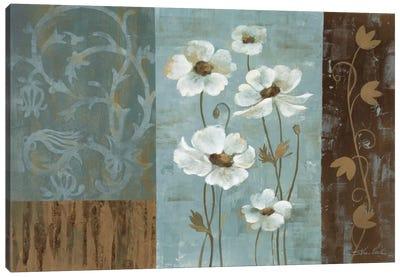 Blue Iridescent Anemones Canvas Art Print