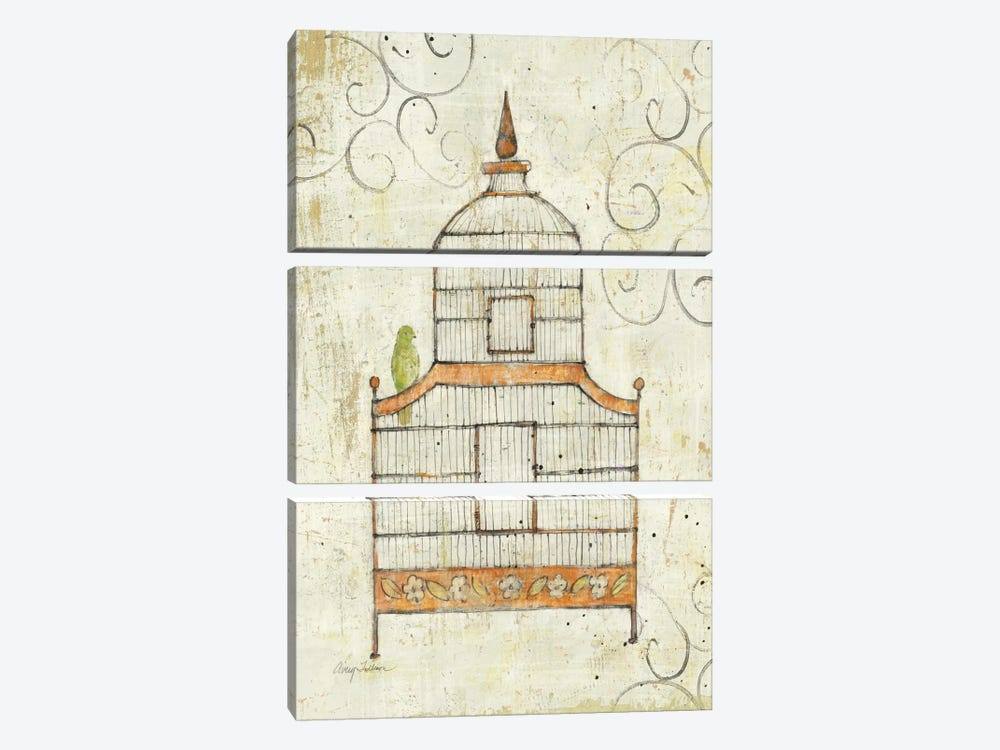 Bird Cage III by Avery Tillmon 3-piece Canvas Wall Art