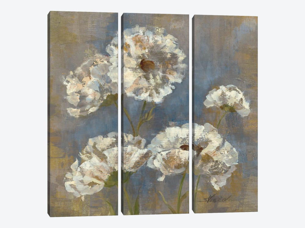 Flowers in Morning Dew I 3-piece Canvas Artwork