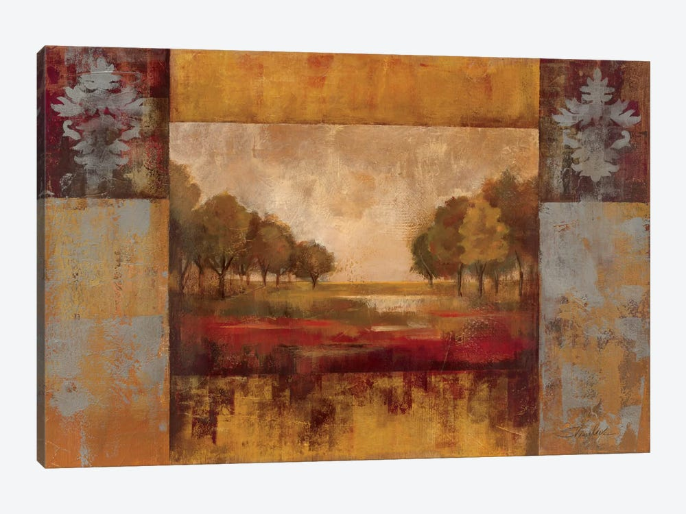 Landscape in Gold by Silvia Vassileva 1-piece Canvas Wall Art