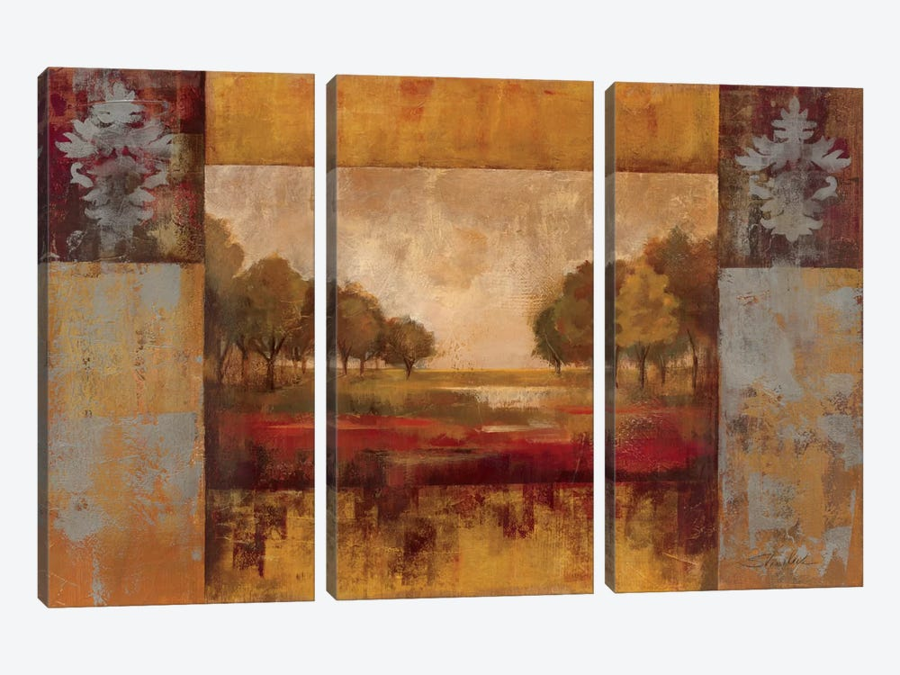Landscape in Gold by Silvia Vassileva 3-piece Canvas Artwork