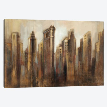 Flatiron Skyline Canvas Print #WAC1275} by Silvia Vassileva Canvas Art Print