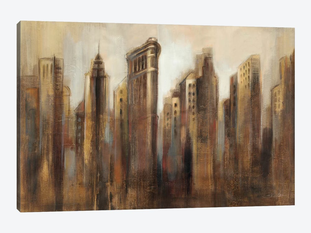 Flatiron Skyline by Silvia Vassileva 1-piece Canvas Print