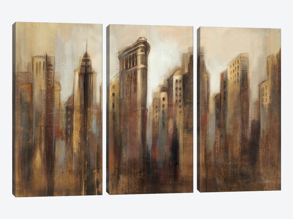 Flatiron Skyline by Silvia Vassileva 3-piece Canvas Print