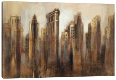 Flatiron Skyline Canvas Art Print