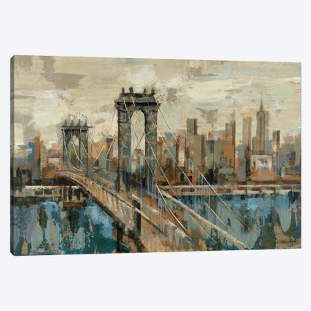 New York View 3-Piece Canvas #WAC1278} by Silvia Vassileva Canvas Wall Art