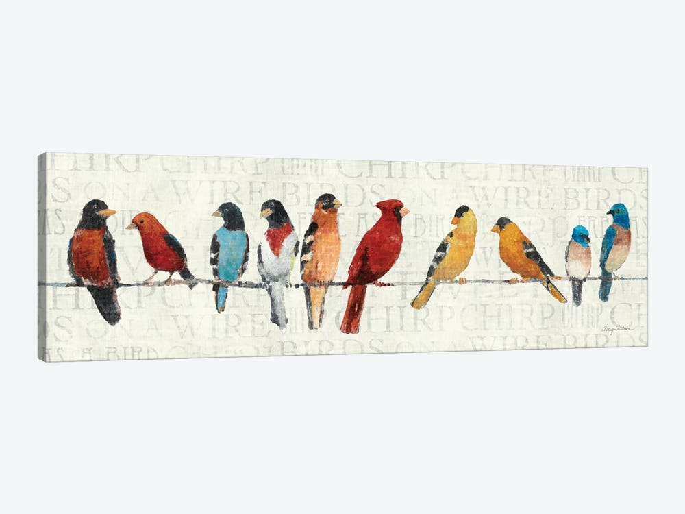 The Usual Suspects - Birds on a Wire by Avery Tillmon 1-piece Canvas Art Print