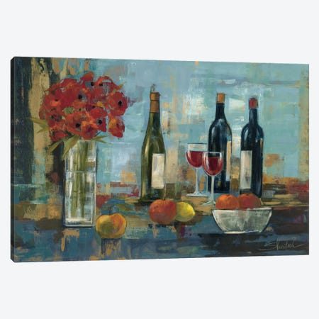 Fruit and Wine Canvas Print #WAC1297} by Silvia Vassileva Canvas Art Print