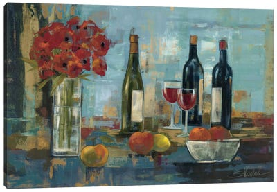 Fruit and Wine Canvas Print #WAC1297
