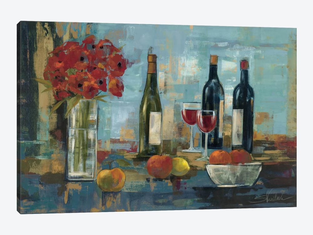 Fruit and Wine by Silvia Vassileva 1-piece Art Print