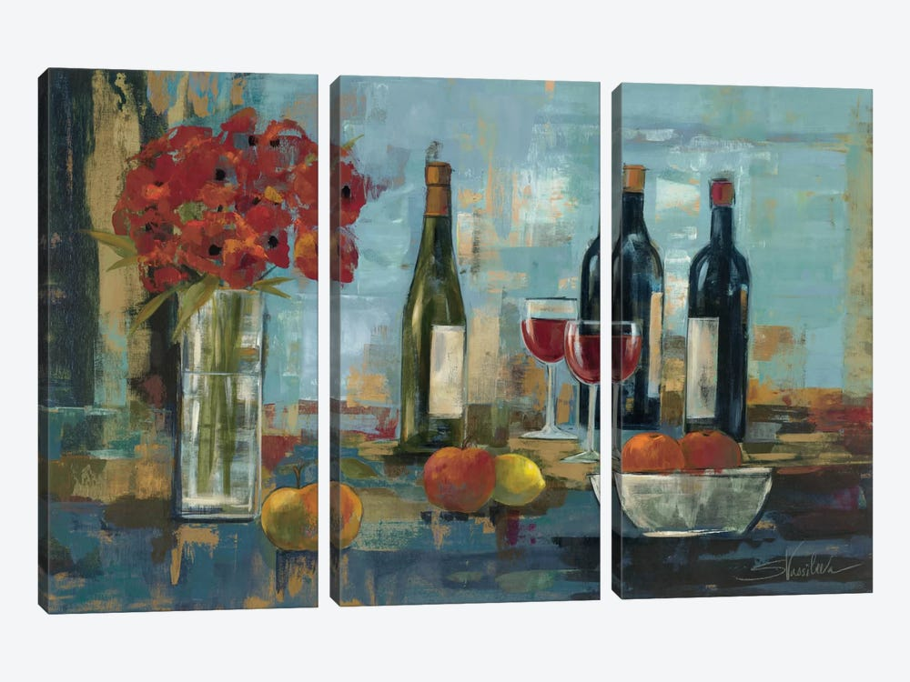 Fruit and Wine by Silvia Vassileva 3-piece Art Print