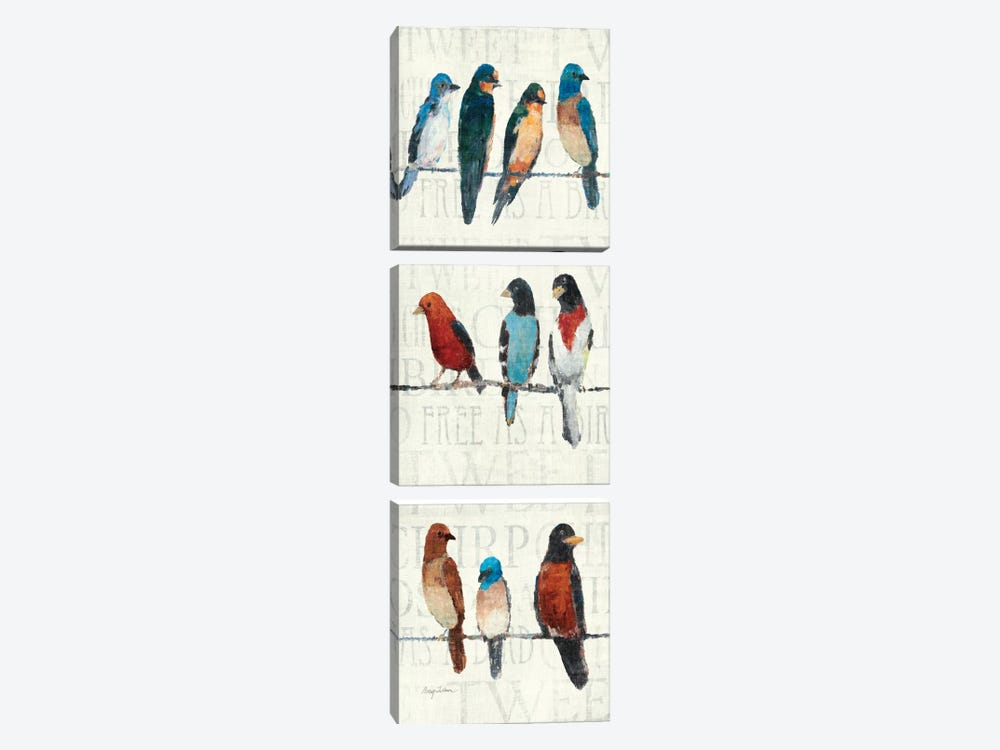 The Usual Suspects Panel I  by Avery Tillmon 3-piece Canvas Art