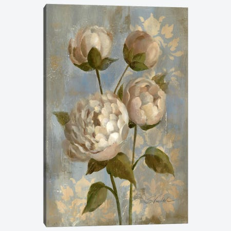 Peony on Soft Blue  Canvas Print #WAC1300} by Silvia Vassileva Canvas Art