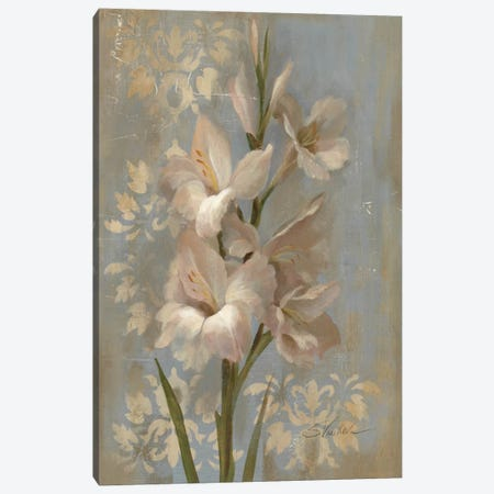 Gladiola on Soft Blue  Canvas Print #WAC1301} by Silvia Vassileva Canvas Art