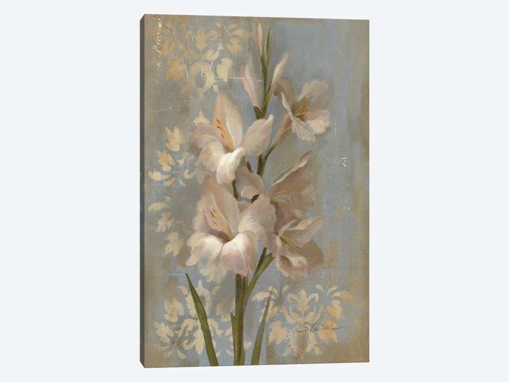 Gladiola on Soft Blue  by Silvia Vassileva 1-piece Canvas Art Print