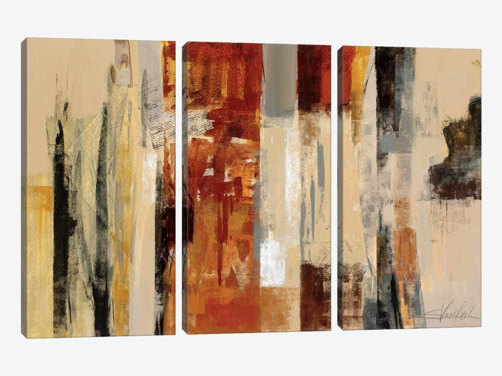 Urban Morning by Silvia Vassileva 3-piece Canvas Artwork