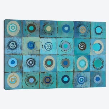 Underwater Mosaic Canvas Print #WAC1303} by Silvia Vassileva Canvas Art