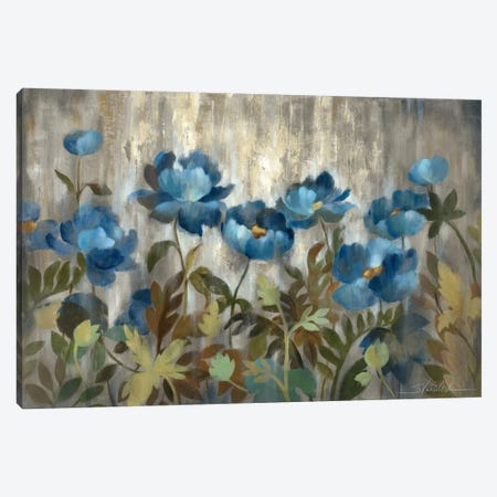 Silver and Sapphire Canvas Print #WAC1304} by Silvia Vassileva Canvas Art Print