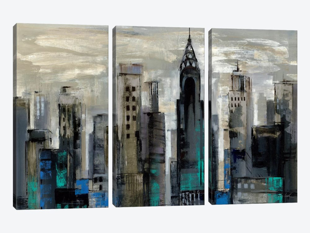 New York Moment  by Silvia Vassileva 3-piece Canvas Artwork