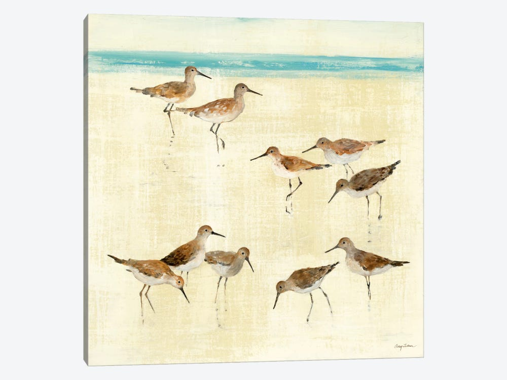 Sandpipers by Avery Tillmon 1-piece Canvas Art Print