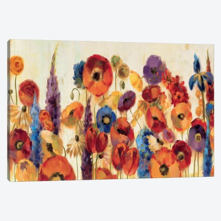 Joyful Garden Canvas Print #WAC1322} by Silvia Vassileva Canvas Artwork