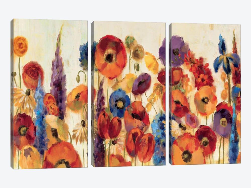 Joyful Garden by Silvia Vassileva 3-piece Canvas Art