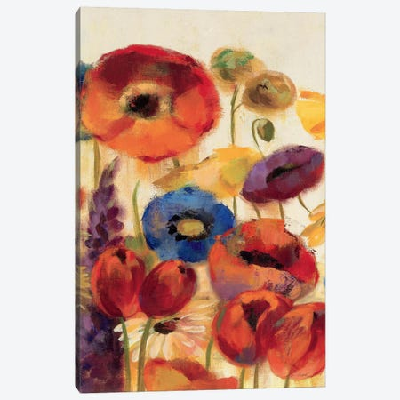 Joyful Garden Panel II Canvas Print #WAC1323} by Silvia Vassileva Canvas Wall Art