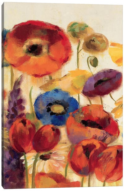 Joyful Garden Panel II Canvas Print #WAC1323