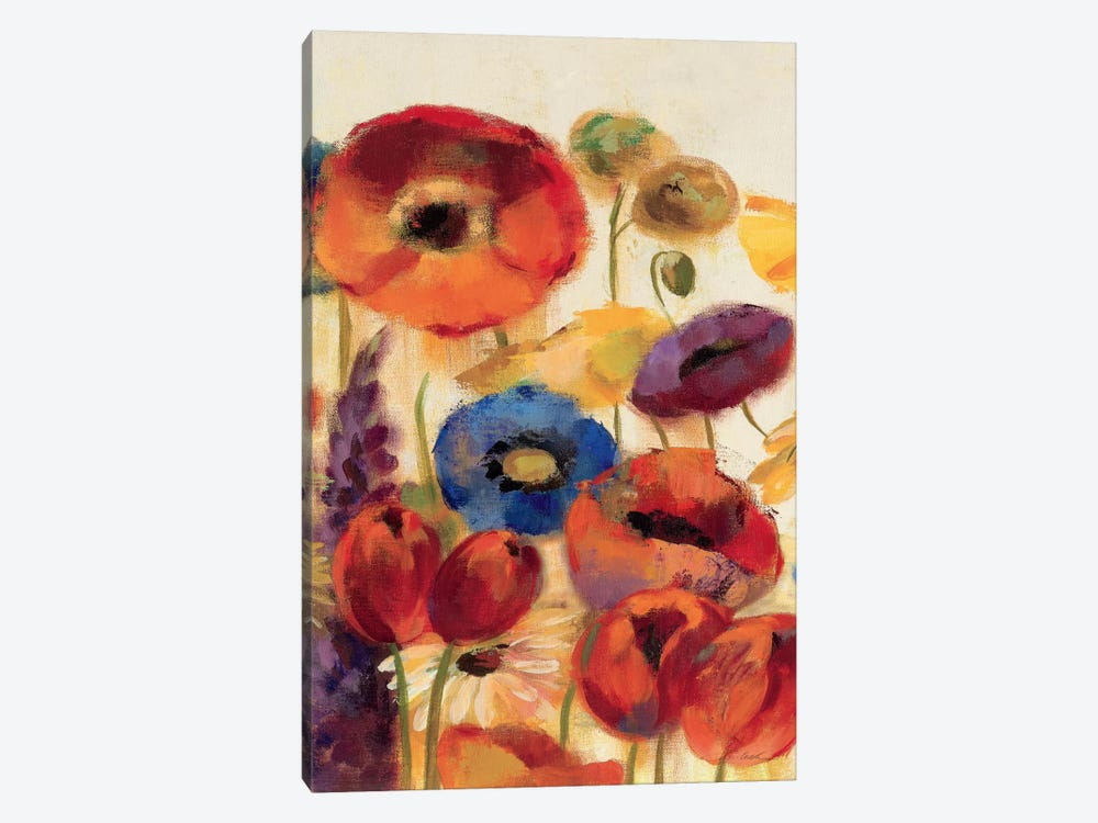 Joyful Garden Panel II by Silvia Vassileva 1-piece Art Print