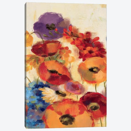 Joyful Garden Panel III Canvas Print #WAC1324} by Silvia Vassileva Art Print