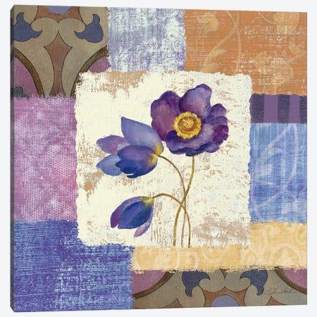Tiled Poppies I  Canvas Print #WAC1328} by Silvia Vassileva Canvas Artwork
