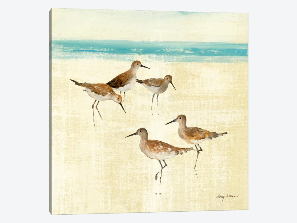 Sand Pipers Square I  by Avery Tillmon 1-piece Canvas Wall Art