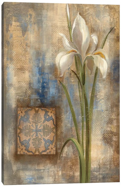 Iris and Tile Canvas Art Print