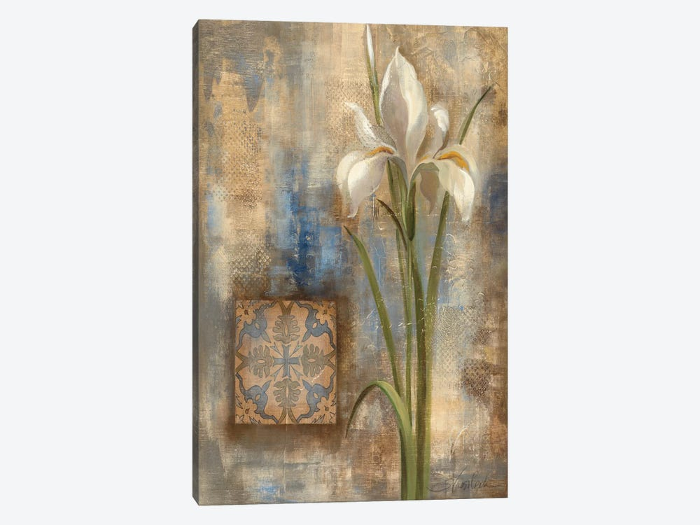 Iris and Tile by Silvia Vassileva 1-piece Art Print