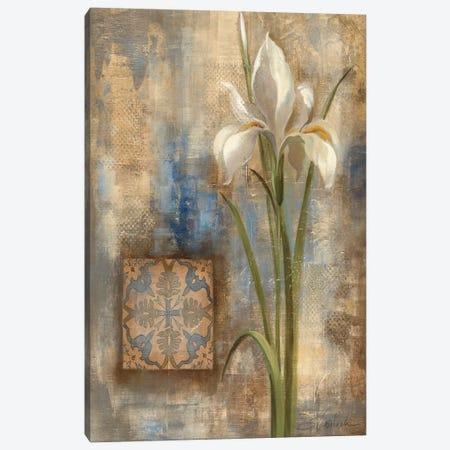 Iris and Tile Canvas Print #WAC1330} by Silvia Vassileva Art Print