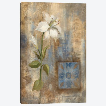 Lily and Tile Canvas Print #WAC1331} by Silvia Vassileva Canvas Art Print