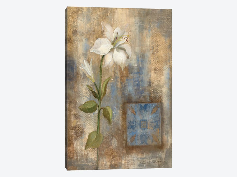 Lily and Tile by Silvia Vassileva 1-piece Canvas Artwork