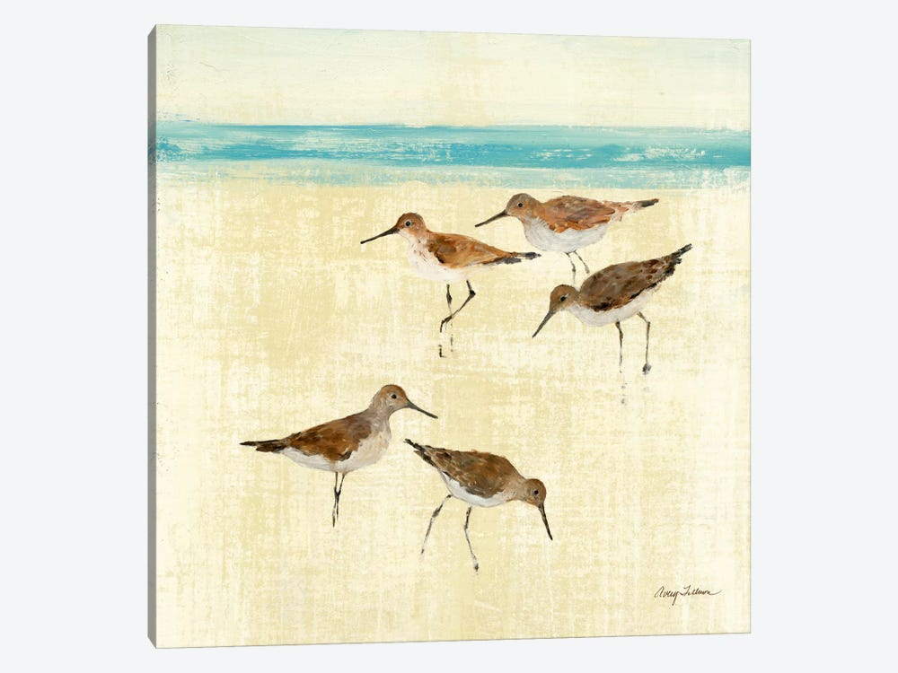 Sand Pipers Square II by Avery Tillmon 1-piece Canvas Art Print