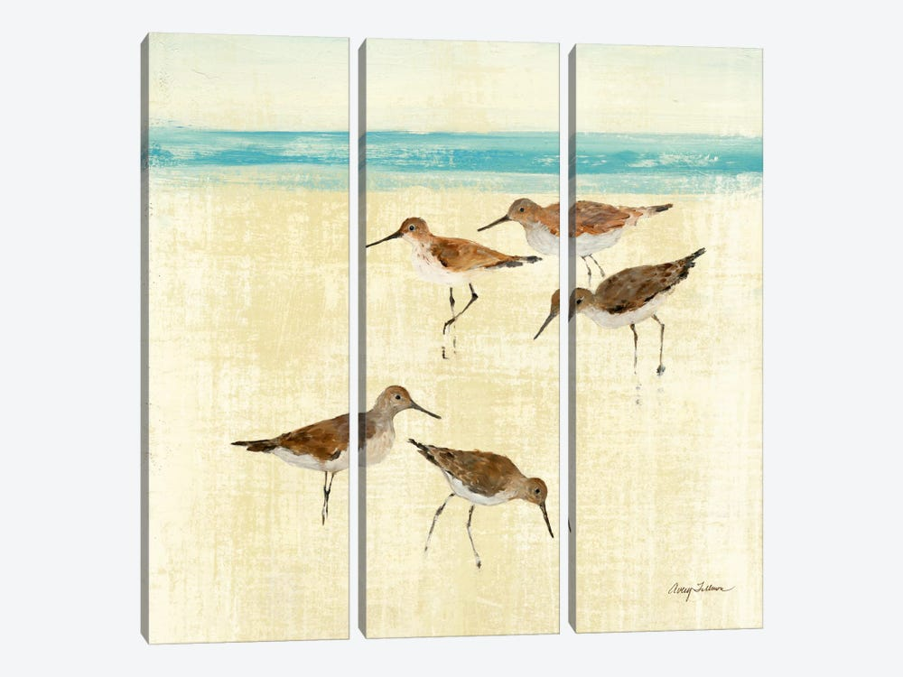 Sand Pipers Square II by Avery Tillmon 3-piece Art Print